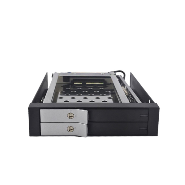 """2016 Real Top Fashion Aluminum Stock 2.5"""" Hd Externo Dual Bay Sata 2.5in Hard Drive Caddy Tray Hdd Mobile Rack"""