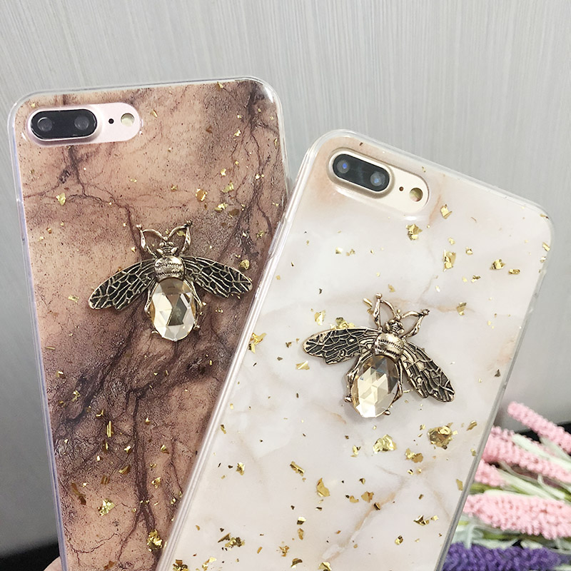 Gold Foil Glitter Soft TPU <font><b>Case</b></font> For <font><b>Huawei</b></font> Nova 3 3i P20 <font><b>P10</b></font> Plus P30 Pro Bee <font><b>Marble</b></font> Cover Honor 8X 7X 9 V10 V20 Mate 20 10 Pro image
