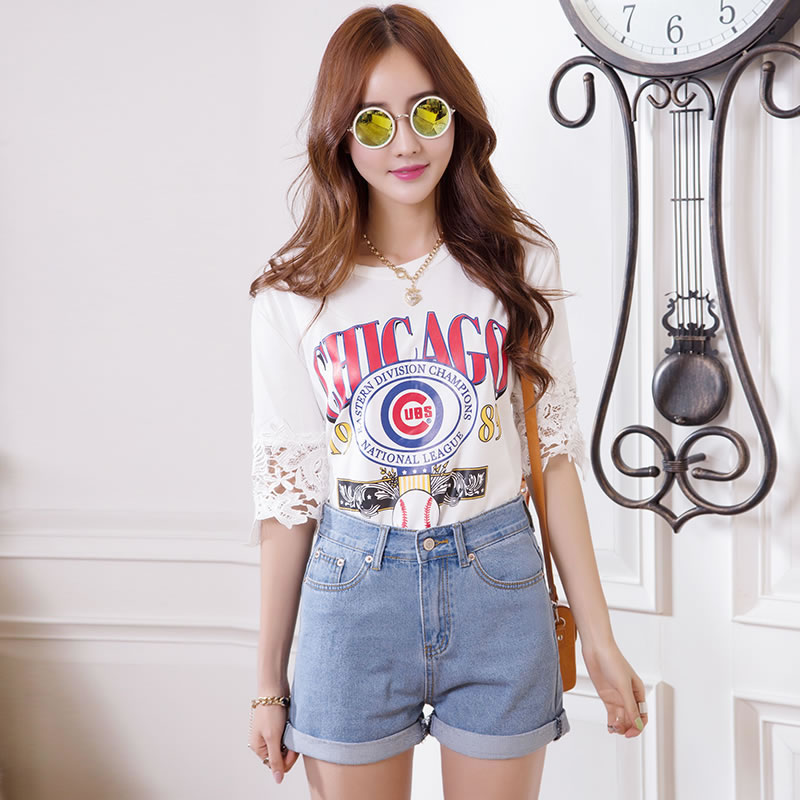 1e46a179ff88c 2015 Fashion Women s Jeans Summer High Waist Stretch Denim Shorts Slim  Korean Casual Women Jeans Ladies Shorts Hot Short Vintage-in Shorts from  Women s ...