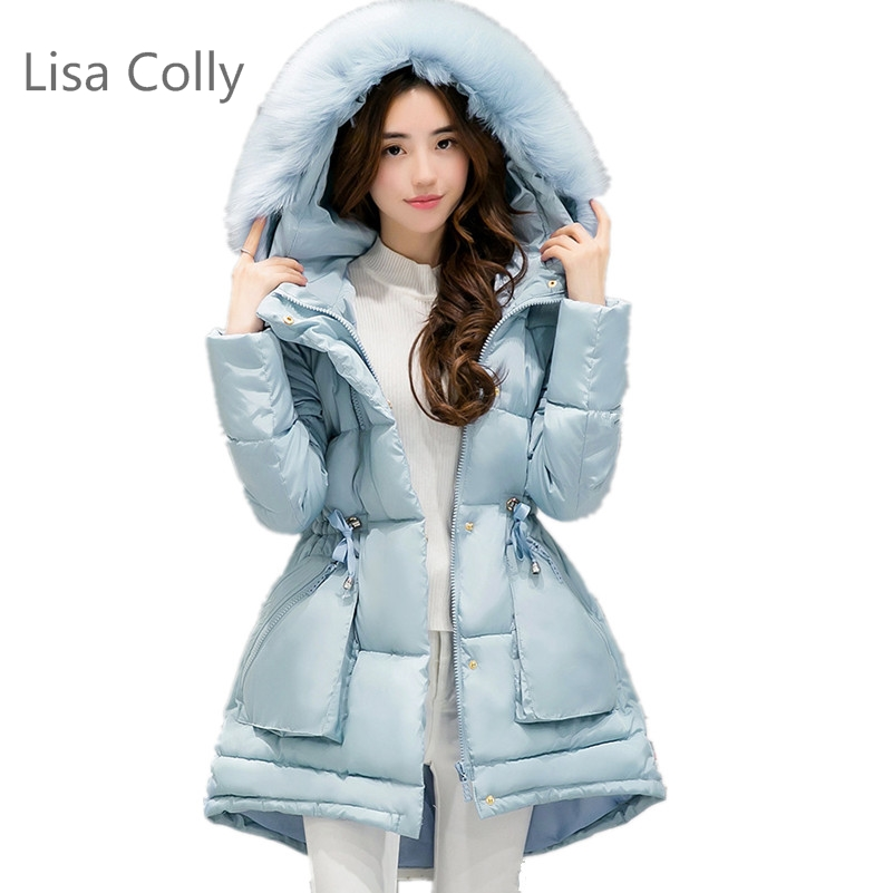 Lisa Colly Girl Winter Women's Parka Hooded Warm Jacket New Fashion Womens Long Thin Jacket lisa corti сандалии