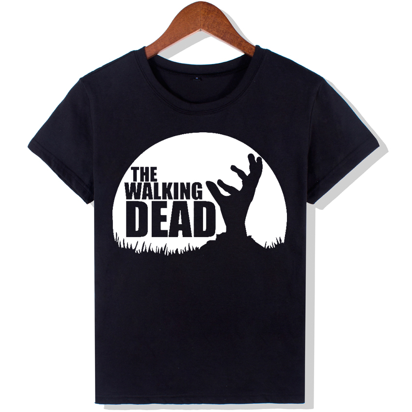 YEMUSEED The Walking Dead Fashion T Shirts Women New Funny O Neck Top Letters Tees Hipster Tumblr WMT293