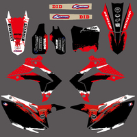 Matching Team Background Graphic Decal Sticker For Honda CRF 250 250R 450 450R 2013 2014 2015 2016 CRF250 CRF450 CRF250R CRF450R
