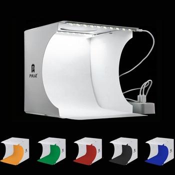 Podwójny panele LED składane przenośne zdjęcie skrzynki wideo oświetlenie Studio strzelanie namiot zestaw Emart rozproszone Studio Softbox ulubionych tanie i dobre opinie 22CMx23cmx24cm Pakiet 1 PULUZ