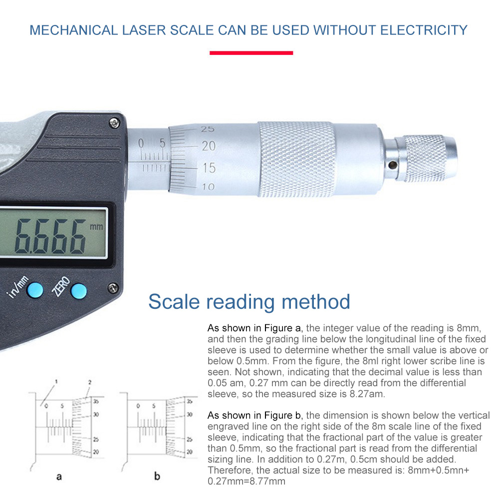 do carboneto do micrômetro do lcd para