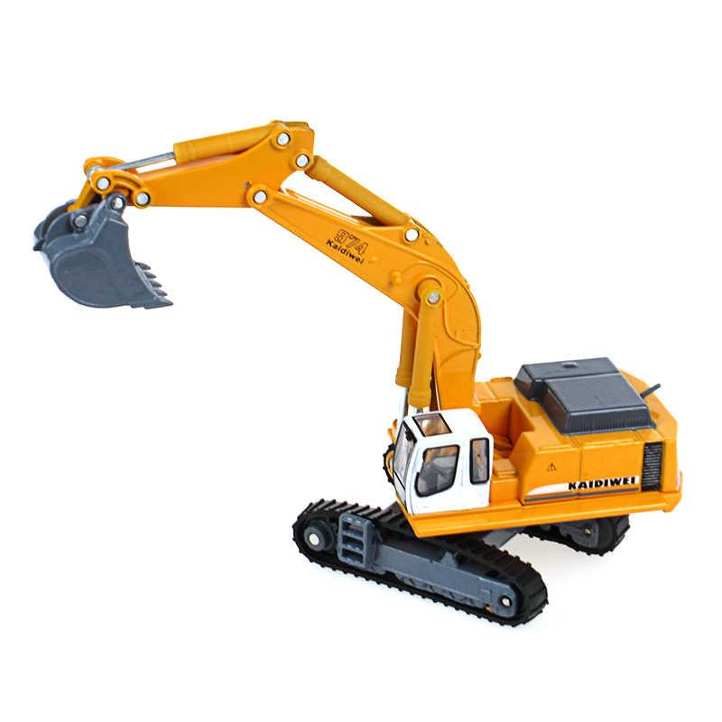KAIDIWEI Truk Excavator Mainan Logam 18 cm Simulasi Excavator Mobil Mainan Untuk Anak-anak, koleksi Model Model Model