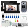 New Color Video Door Phone System 700TVL IR Camera RFID Keyfobs Unlock Remote
