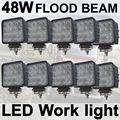 THTMH 10X48 W off road Lâmpada de Inundação Quadrado CONDUZIU a Luz do Trabalho para o Caminhão do carro Do Veículo de Condução Barco