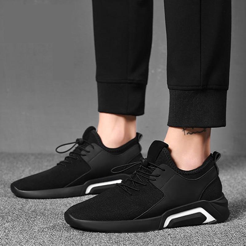 576ee67b5b Tênis de Corrida dos homens Lace-up Malha Respirável de Calçados Esportivos  Para O Sexo Masculino Tamanho 36-44 Casuais Sapatos de Caminhada sneakers