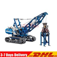 DHL Lepin Technic Motor 20010 1401Pcs Crawler Crane Model Building Kits Blocks Bricks Toys copmatible Legoings 42042