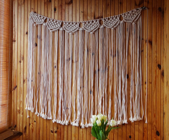 Large macrame wall hanging/Wedding backdrop/Tapestry/Macrame decor/Wall art/Woven wall hanging/Bohemian Woven wall hanging Decorative Tapestries     - title=