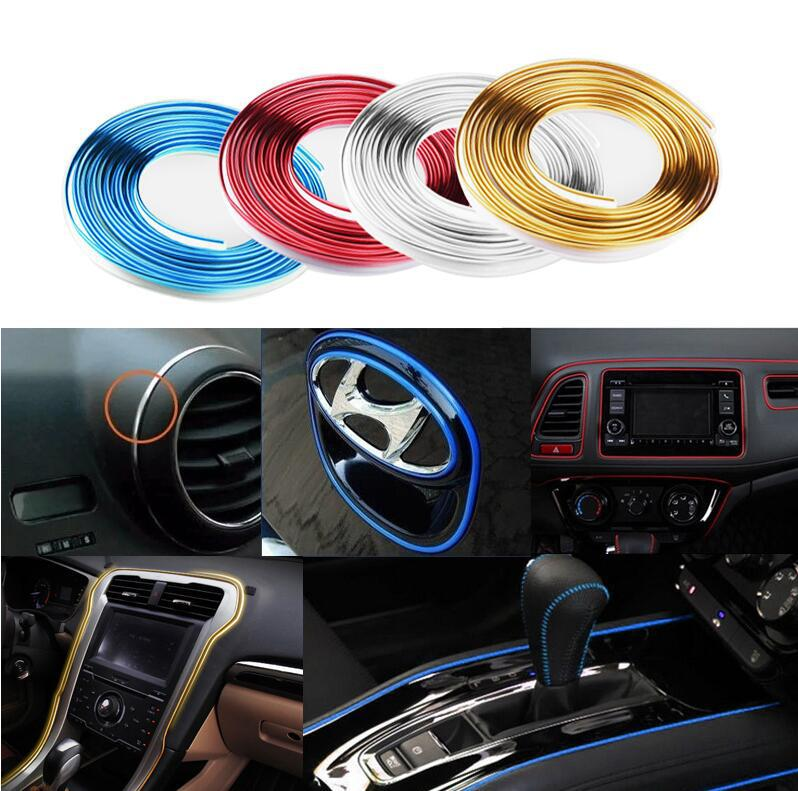 5 Meter Car Side Rein PVC decorative tape Auto dash panel trim strip automotive center stack Side moulding decoration strip men cut and sew panel tape side tee