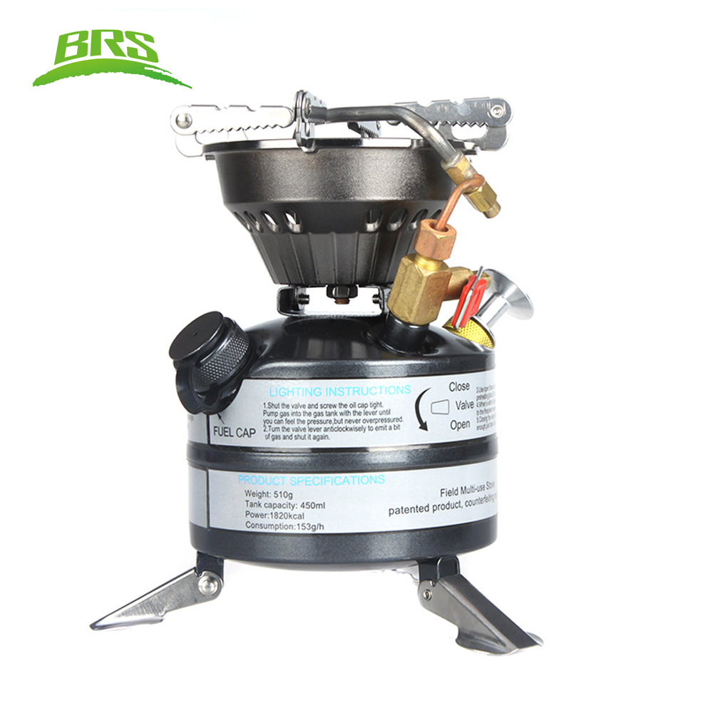 BRS-12A Portable Liquid Fuel Gasoline Stoves Outdoor Camping Picnic Oil Stove Burners Diesel Kerosene Stove 530ml 750ml outdoor kerosene diesel gasoline camping edc bottle of alcohol liquid gas storage kettle