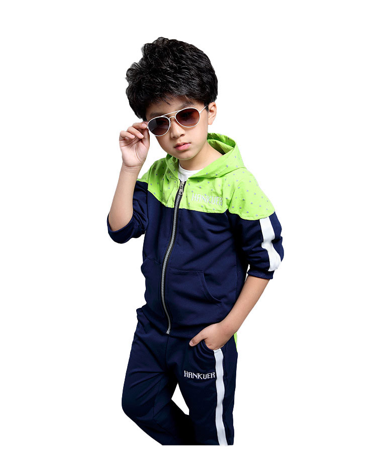 V-tree Spring Autumn teenage boys clothing set zipper sports clothes for boys children tracksuit kids sport suit 4-12T children s clothing 2017 spring camouflage set teenage boys clothes child spring