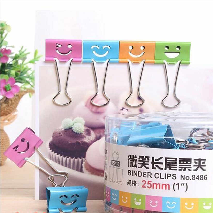 10PCS Useful Smile Binder Clips For Home Office Books File Paper Organizer Clip Food Bag Clips Note Clips #1210 A1#