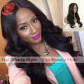 Fast Shipping 28 Inch Synthetic Lace Front Wig With Baby Hair Heat Resistant Fiber Hair Body Wave Wigs For Black Women On Sale