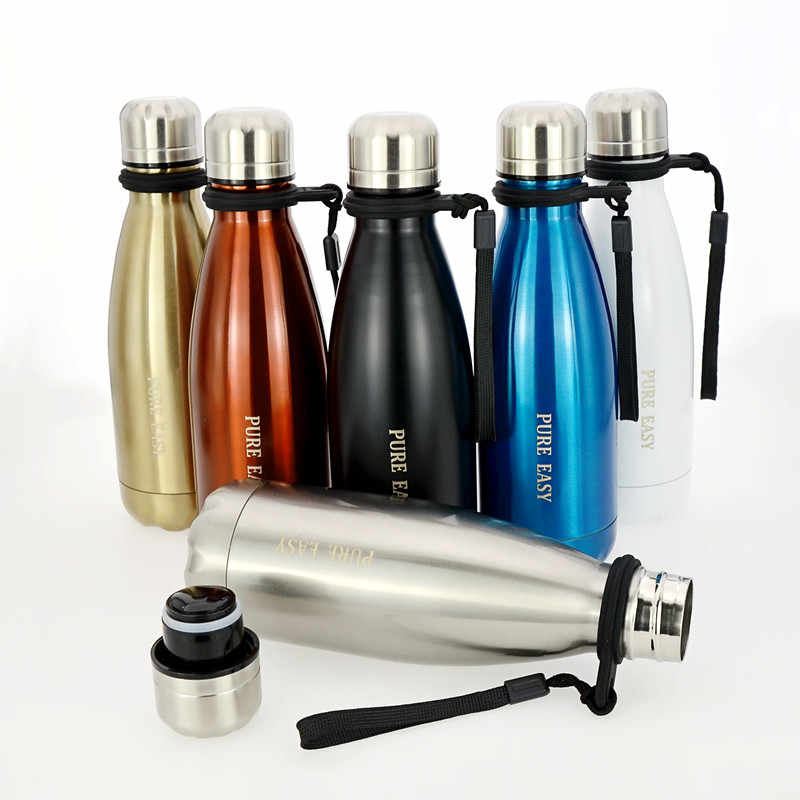 350ml Small double wall stainless steel thermos bottle Outdoor portable keep hot&cold Vaccuum water bottles