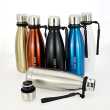 350ml Small double wall stainless steel thermos bottle Outdoor portable keep hot&cold Vaccuum water bottles(China)