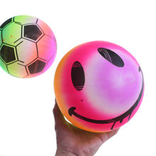 1PCS Outdoor Water Beach Game Toy Colored Rainbow Inflated Ball Football Toy For Kid Children Swimming Pool Gifts Random(China)