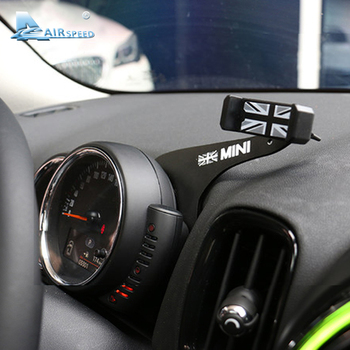 Airspeed Gray Union Jack Bracket for Mini Cooper F55 F56 F54 Accessories Auto Phone Holder Car Mobile Phone Tablet Mount Click