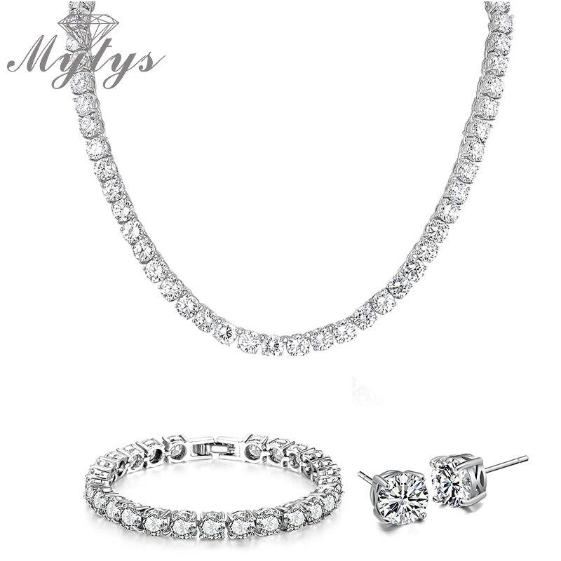 Mytys عالية الجودة مجموعات مجوهرات Zironia - مجوهرات الأزياء