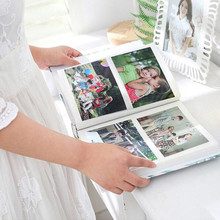 4D Large 6-inch Intert Family Photo Album 200 Album Pages Baby Scrapbook DIY Insert Flush Mount Album Scrapbook Photo Albums