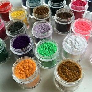 Image 2 - 24 cores 10ml/garrafa decoração unhas de vidro polonês arte diy dicas design veludo reunindo pó pó manicure veludo em pó