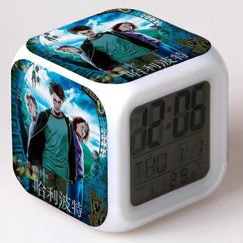 Фильм цифры Гарри Поттер цифровой будильник светодио дный LED 7 цветов Flash изменение сенсорный свет забавные игрушечные лошадки для детей