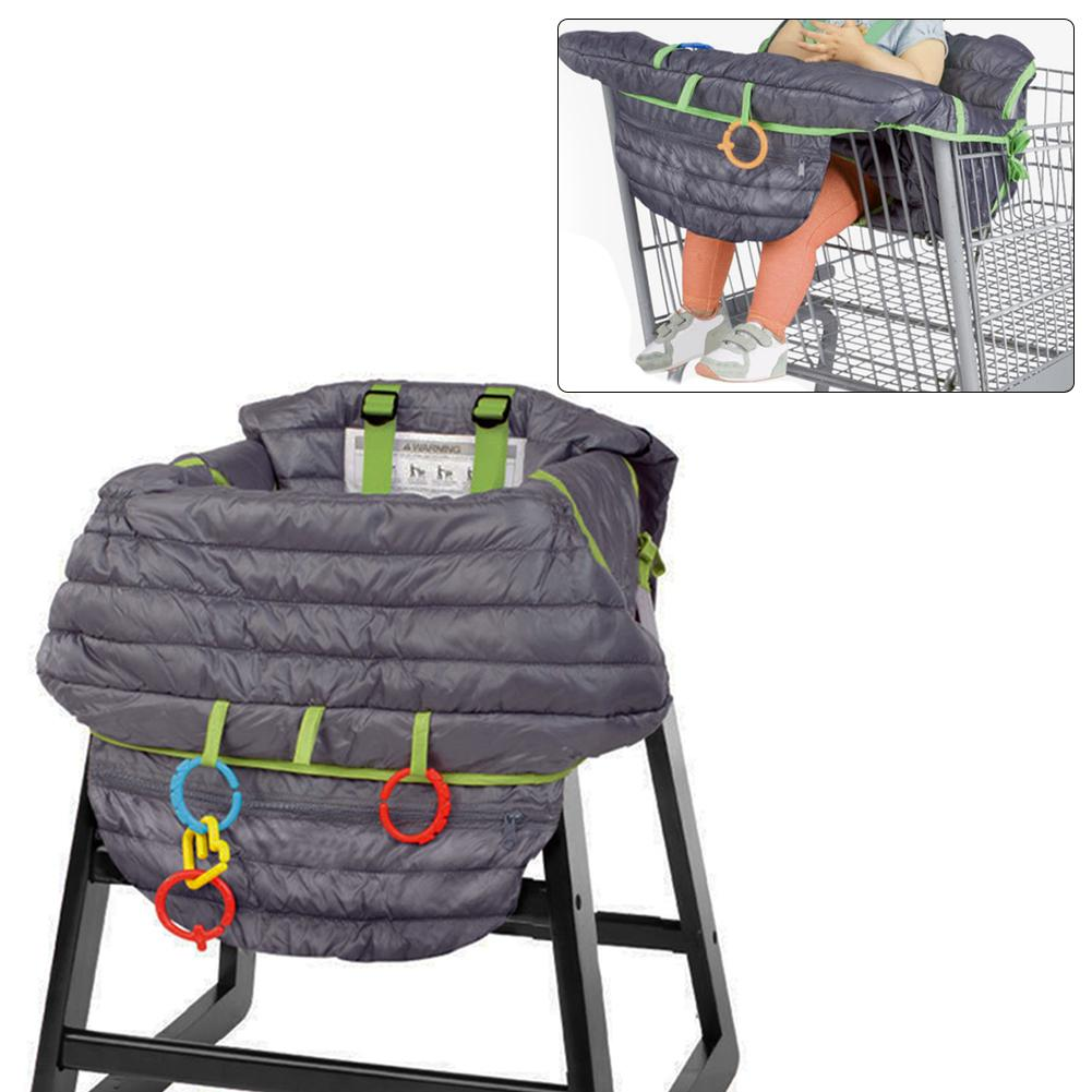 Multifunctional 2-in-1 Shopping Cart Seat Cover High Chair Cover