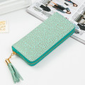 Female wallet 2016 Chinese style Ladies Wallet High quality PU leather long section of the standard wallet fashion tassel Clutch