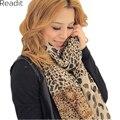 2016 Новая Осень зима шарф шифон печати леопарда точка шелковый шарф обертывания Среднего размера SC1118