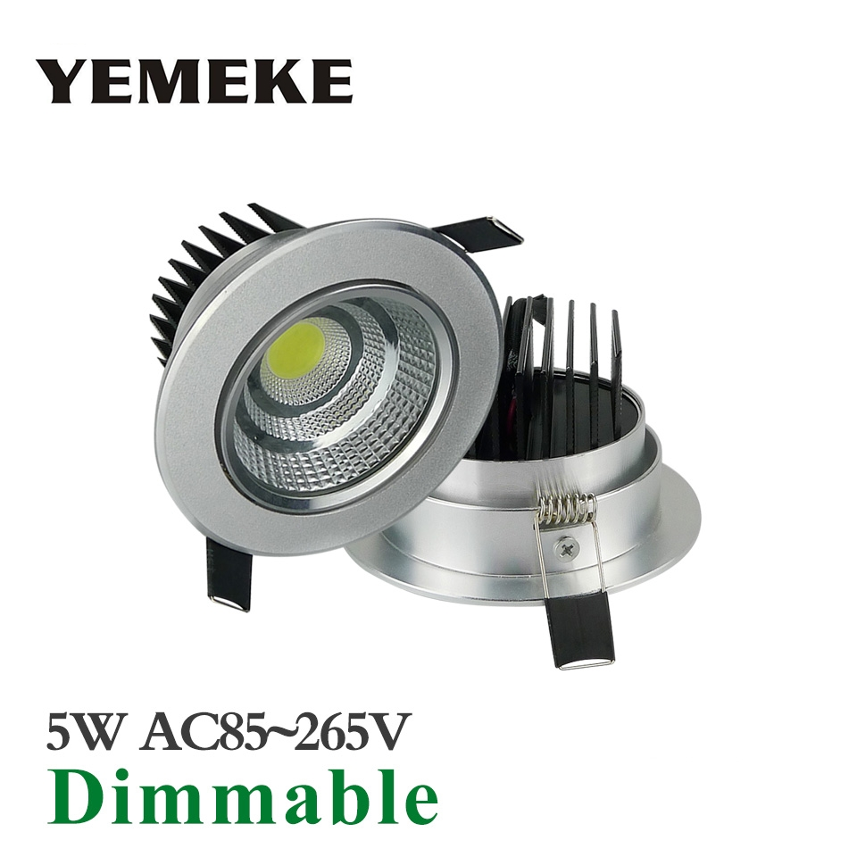 20w Led Dimmable: Super Bright LED Recessed COB Downlight Dimmable 5w 10w