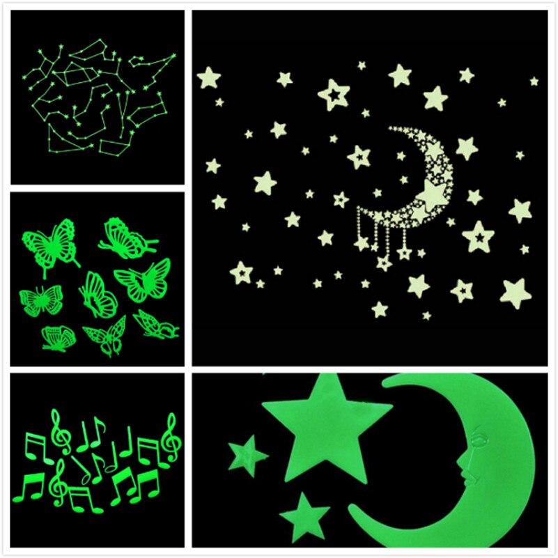 Taotown Resplandor Fluorescente en la Oscuridad Luminosa de Dibujos Animados Est