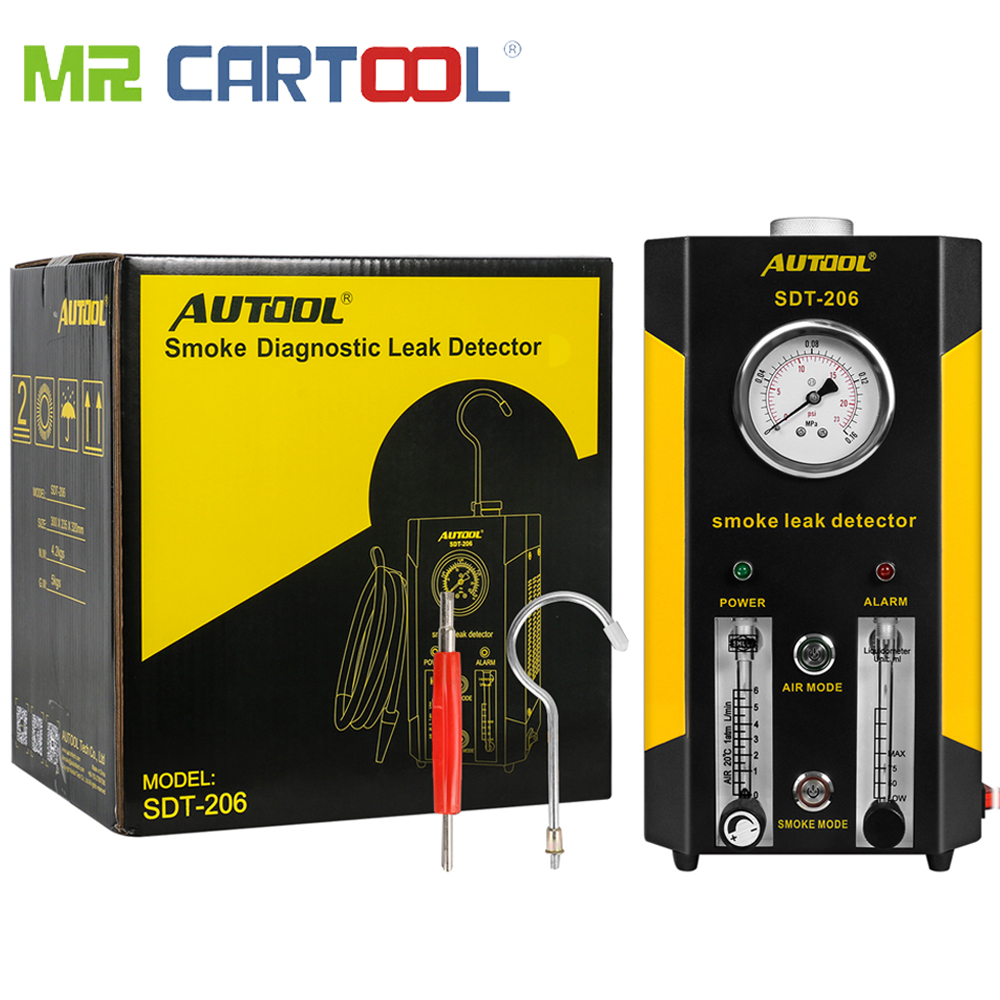 AUTOOL 2019 NEW SDT-206 Car Smoke Machines Leak Locator Automotive Diagnostic Leak Detector Auto Diagnostic Tool PK SDT206