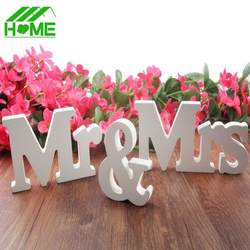 3 шт. mr Mrs романтический брак Свадебные украшения Декор торт аксессуар партии Аксессуары чисто белые деревянные буквы знак корабли