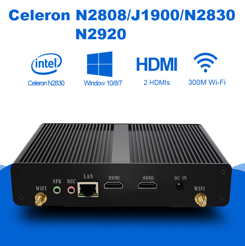 Mini PC Intel Celeron J1900 Quad-cores 4G RAM Fanless Micro Desktops Computer Household Nettops Dual HDMI 300M WIFI Windows 10 cheap intel celeron j1900 220v all in one pc motherboard for vending machine