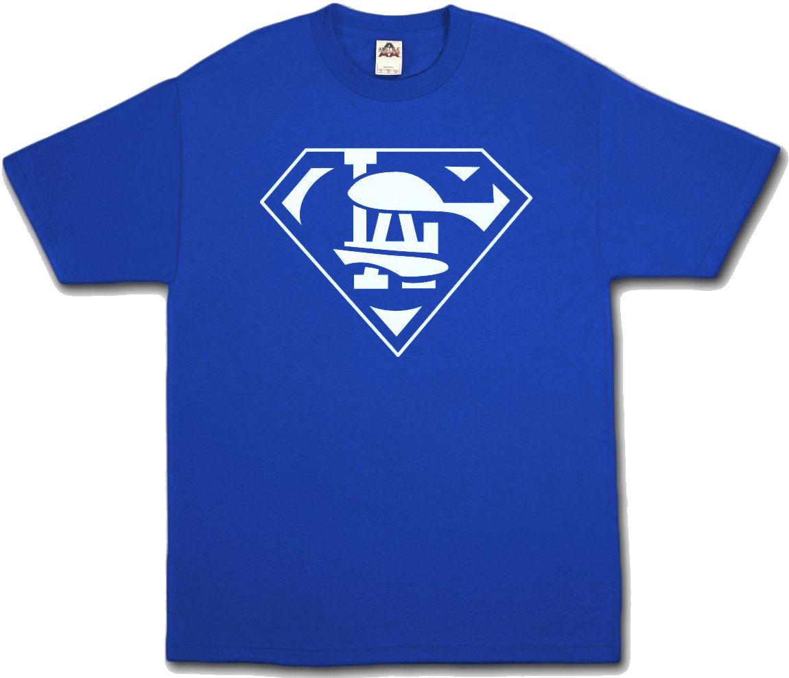 Shirt design toronto - Super Dodgers Fan Blue T Shirt Superman La Los Angeles Fans All Sizes S
