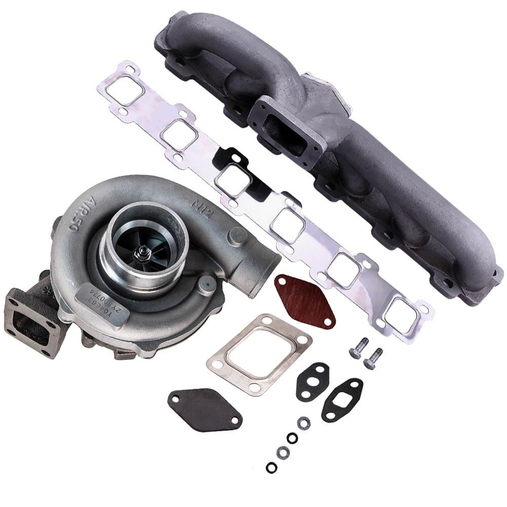 Universal Turbocompresor Turbo T3 T4 T04E .63 A/R .50 A/R T3 Flange for1.6L 2.5L for Nissan Patrol Safari Y61 GR 4.2L TD42 TD422