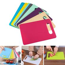 1pc Plastic Chopping Board Non-slip Frosted Kitchen Cutting Vegetable Meat Food Slice  Tool