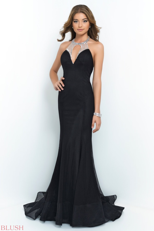 Black Mermaid Long Tight Prom Dresses Sexy Halter Open Back ...