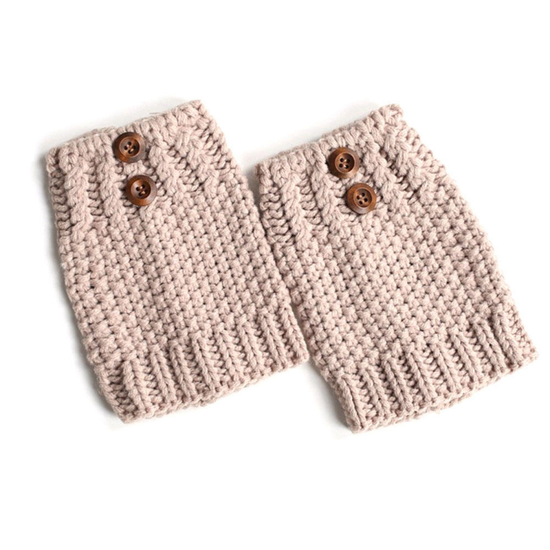 Women's Socks & Hosiery Capable Autumn Winter Women Knit Leg Warmer Short Boot Cuffs Buttons Crochet Boot Socks Female Knitted Gaiters Leg Warmers 8c1273 Online Discount Underwear & Sleepwears