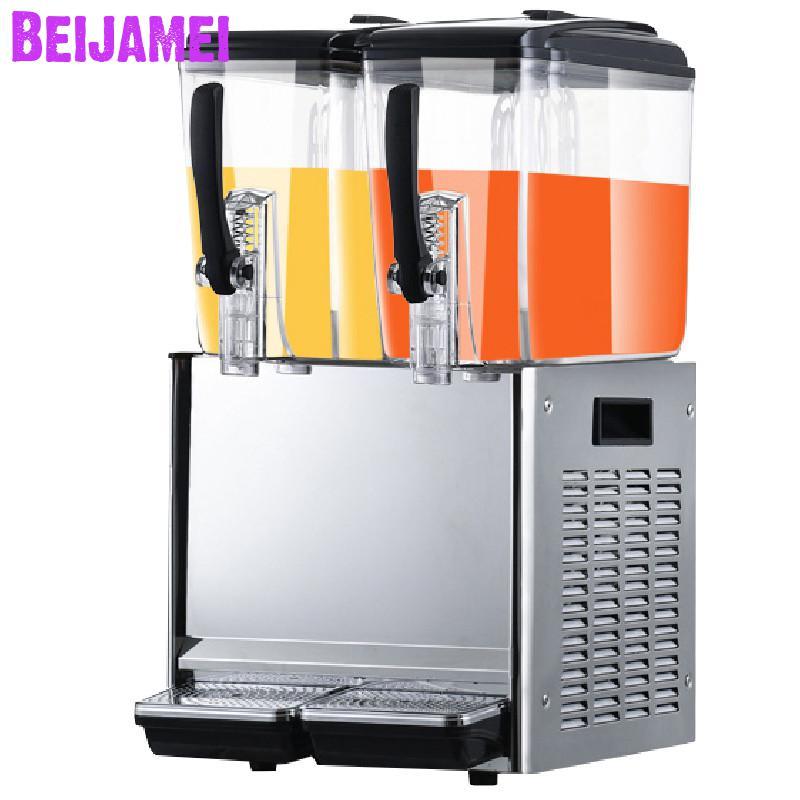 BEIJAMEI 2 réservoir 12 * 2L distributeurs automatiques de jus commercial froid jus machine à boire machine distributeur de boissons aux fruits