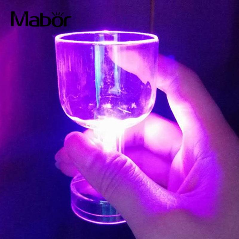 Mabor Luminous LED Whisky Wine Cup 5050 Colorful Night Light Glass Bar Party Supply Drinking Tools