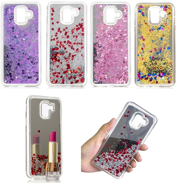 Mirror Water Liquid Phone Case For Samsung Galaxy A6 2018 A6 Plus 2018  Luxury Sparkle Quicksand Glitter Stars TPU Cover 20568d2ed