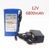 2018 High Quality EU / us. Plug dc 12 V 6800 mAh Li ion rechargeable battery Power Bank for GPS Car video camera