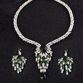 Новая Мода Свадебные Tussel Ювелирные Наборы, Европа Стиль Позолоченные AAA Ожерелье и Серьги для Женщин S076