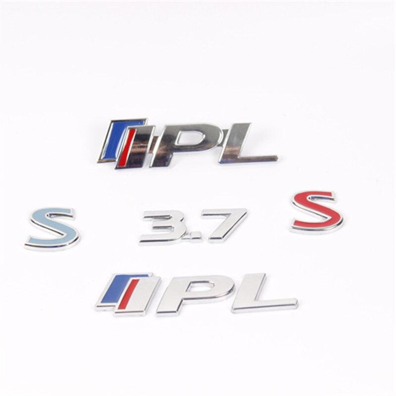 1х металлический автомобильный значок на решетку автомобиля, наклейка на решетку автомобиля хромированная IPL 3,7 с для Infiniti Q50 Q50L G37 G25 QX70 FX35 FX37, Стайлинг автомобиля Наклейки на автомобиль      АлиЭкспресс
