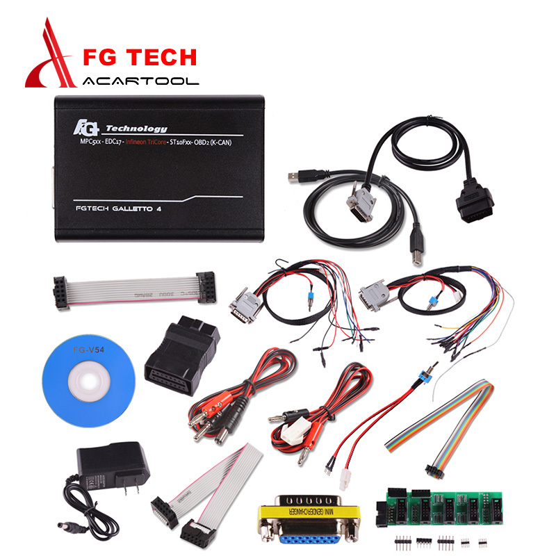 DHL Free Ship Fgtech Galletto 4 Master V54 Full Chip Fg Tech Fg-tech Galletto V54 Support BDM Function ECU Chip Tuning Tool dhl free fgtech galetto 4 master ecu chip tuning tool newest version fg tech v54 bdm tricore with compass as gift