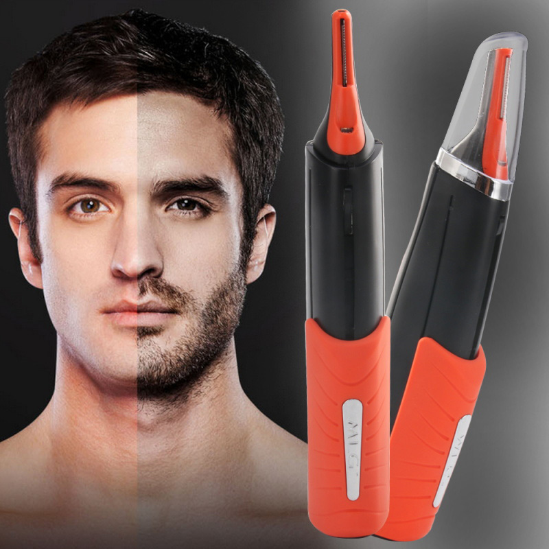 Electric Facial Hair Shaver Grooming Remover Hair Trimmer 2 In 1 Male Switchblade Mustache Beard Eyebrow Hair Trimmer Shaver
