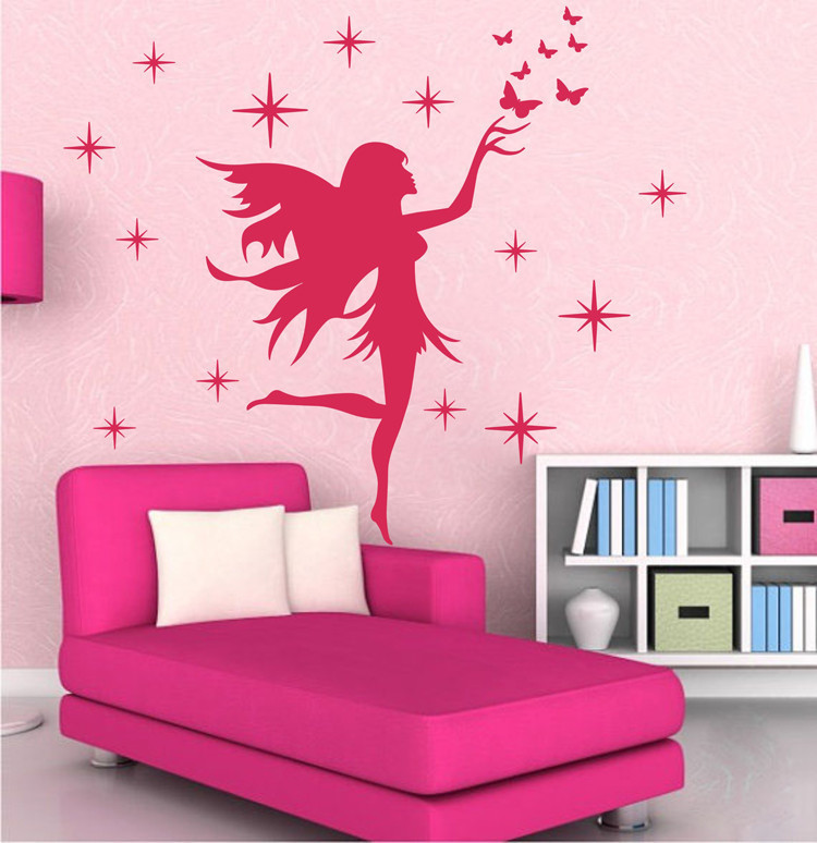 Newlywed Home Decor: Newly Designed Fairy Stars Butterflies Removable Kids Wall