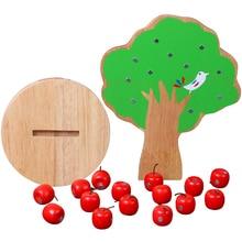 Wooden Magnetic Apple Tree For Children